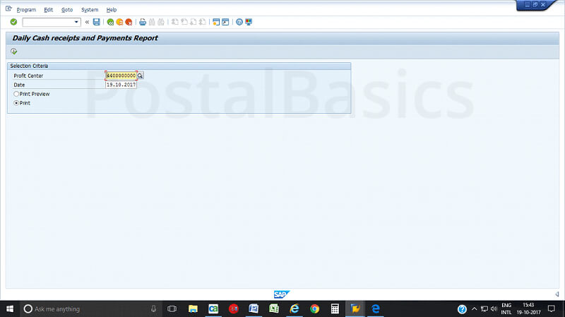How to View Daily Account in CSI Post Office?