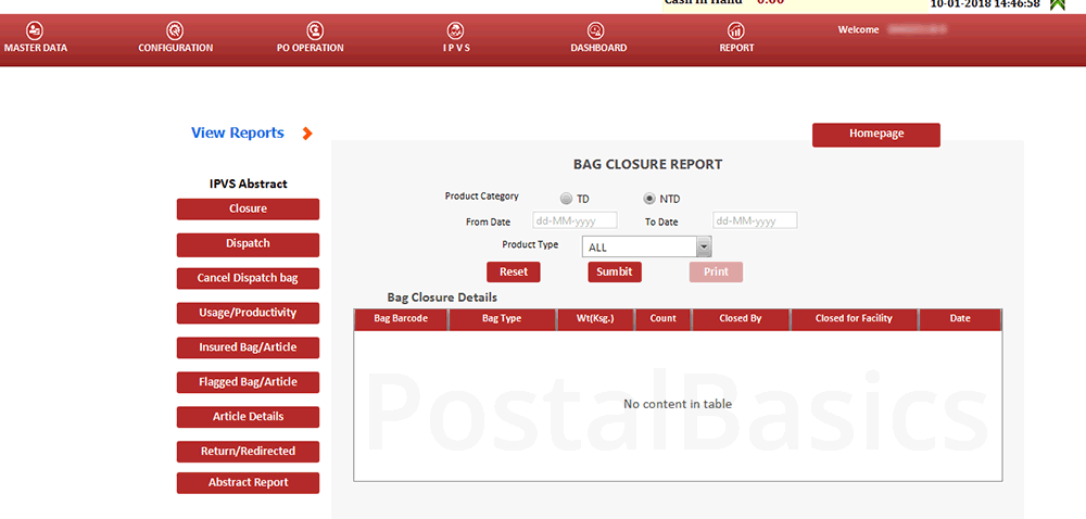 IPVS - Indian Post Visibility System