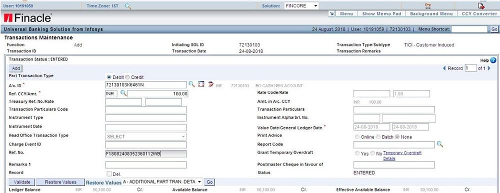 Funding RICT SB Account