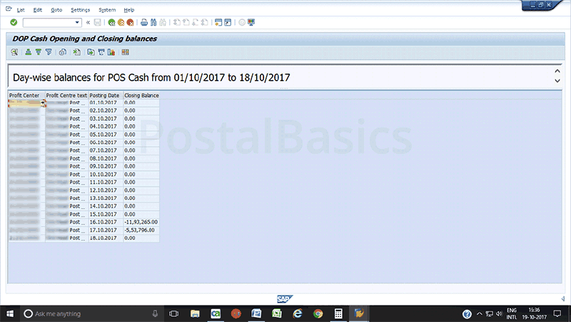 What is the significance of the T-code zfi_cashbal?